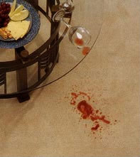 Wine Spill, Carpet Stain